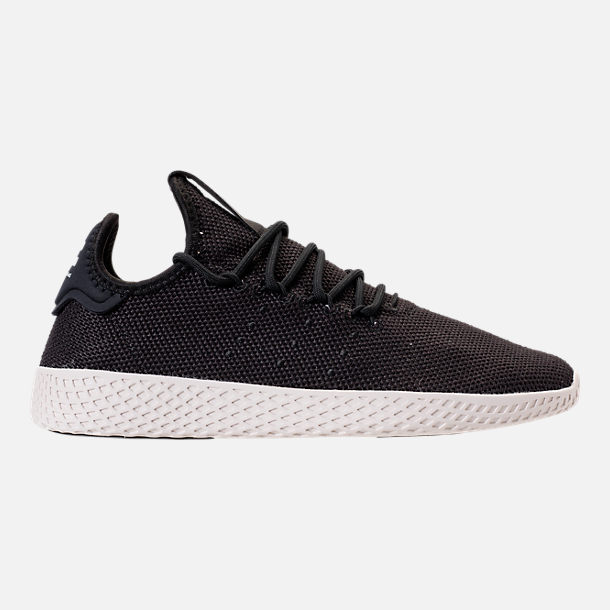 Right view of Men's adidas Originals Pharrell Williams Tennis HU Casual Shoes in Core Black/Chalk White