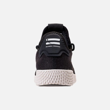 Back view of Men's adidas Originals Pharrell Williams Tennis HU Casual Shoes in Core Black/Chalk White