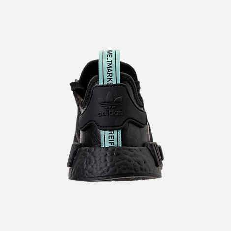 Back view of Women's adidas NMD R1 Casual Shoes in Core Black/Clear Mint