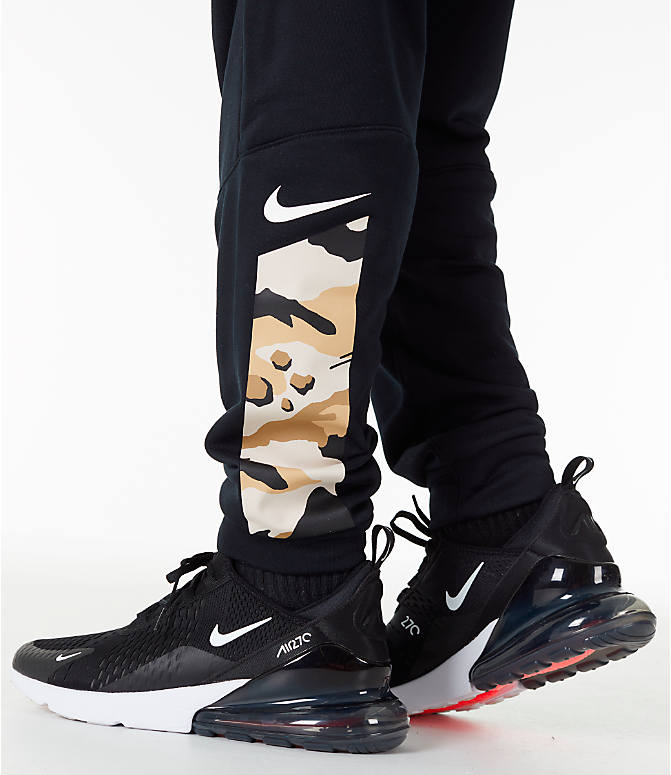 Detail 2 view of Men's Nike Dry Camo Cuffed Training Pants in Black