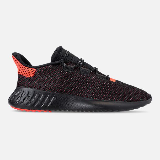 a5eae1a3a3c2 Right view of Men s adidas Tubular Dusk Casual Shoes in Core Black Solar  Red