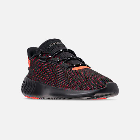 Three Quarter view of Men's adidas Tubular Dusk Casual Shoes in Core Black/Solar Red