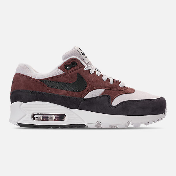 Right view of Women's Nike Air Max 90/1 Casual Shoes in Red Sepia/Oil Grey/Vast Grey