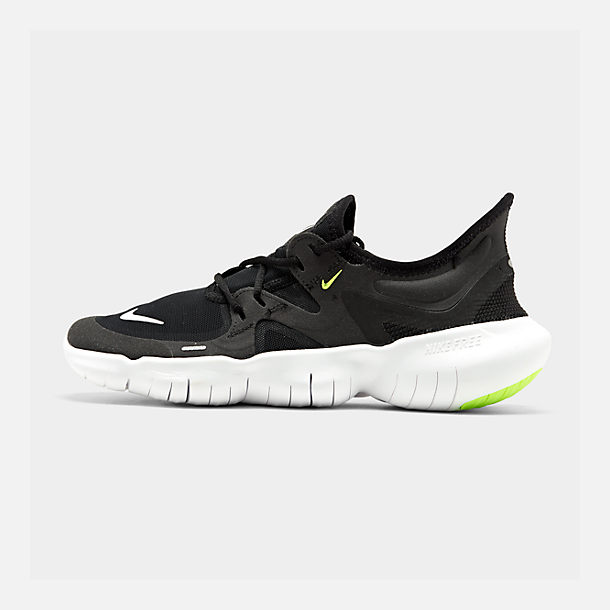 f580ef4ce Right view of Men's Nike Free RN 5.0 Running Shoes in Black/White/Anthracite