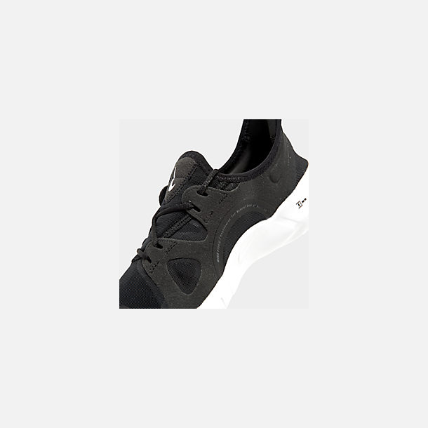 87862d03d4e6b Front view of Men's Nike Free RN 5.0 Running Shoes in Black/White/Anthracite