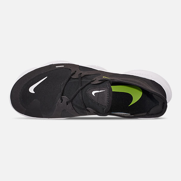 509e6f53533a0 Top view of Men's Nike Free RN 5.0 Running Shoes in Black/White/Anthracite