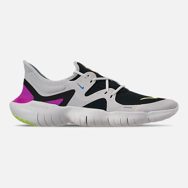 hot sales 44f6c d0da5 Right view of Men s Nike Free RN 5.0 Running Shoes in White Summit Volt Glow
