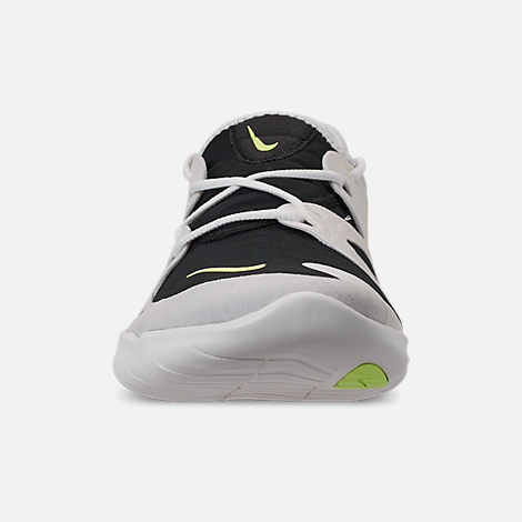 watch d3e23 84425 Front view of Men s Nike Free RN 5.0 Running Shoes in White Summit Volt Glow