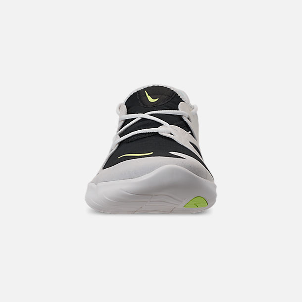 dba85b4c111ad Front view of Men s Nike Free RN 5.0 Running Shoes in White Summit Volt Glow