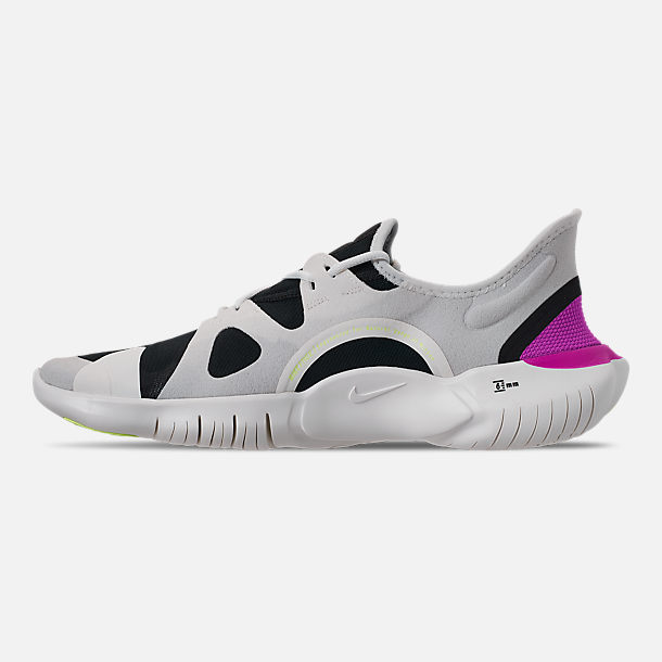 0140a6bccb53a Left view of Men s Nike Free RN 5.0 Running Shoes in White Summit Volt Glow