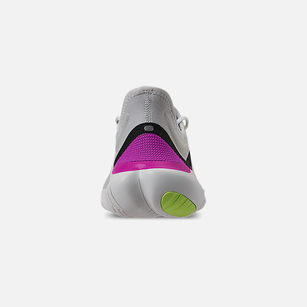 official photos a1630 ff810 Back view of Men s Nike Free RN 5.0 Running Shoes in White Summit Volt Glow