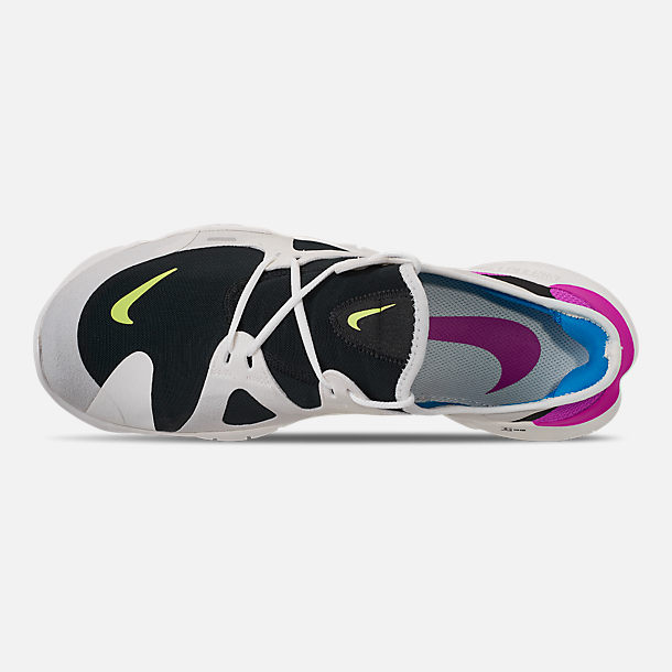 8196c8ed75e Top view of Men s Nike Free RN 5.0 Running Shoes in White Summit Volt Glow