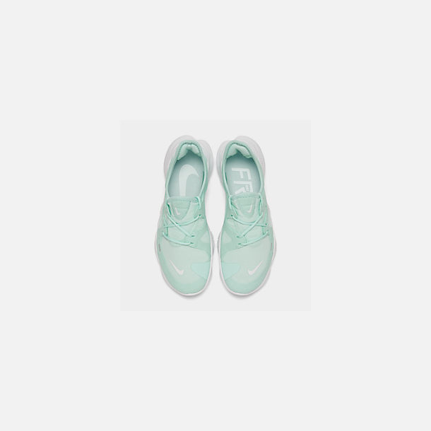 Back view of Women's Nike Free RN 5.0 Running Shoes in Teal Tint/White