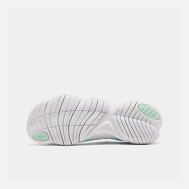 Bottom view of Women's Nike Free RN 5.0 Running Shoes in Teal Tint/White