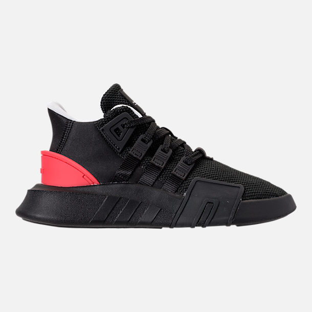 Right view of Boys' Grade School adidas EQT ADV Basketball Casual Shoes in Core Black