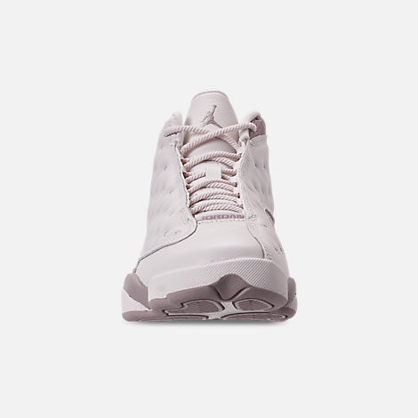 Front view of Women's Air Jordan Retro 13 Basketball Shoes in Phantom/Moon Particle