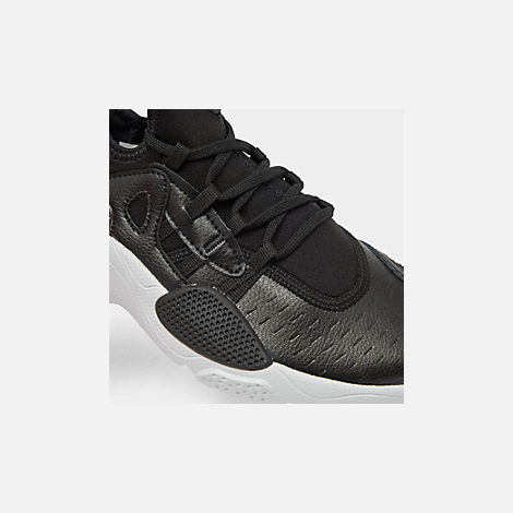 Front view of Boys' Big Kids' Nike Huarache E.D.G.E Casual Shoes in Black/White
