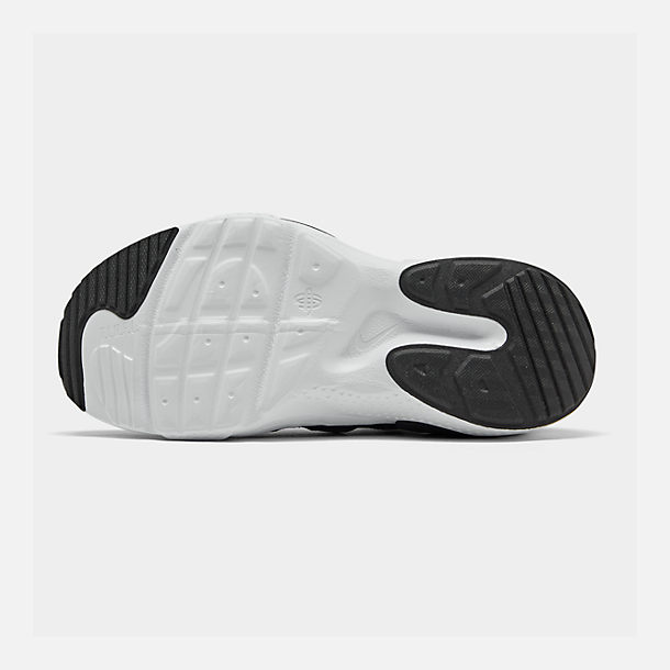 Bottom view of Boys' Big Kids' Nike Huarache E.D.G.E Casual Shoes in Black/White