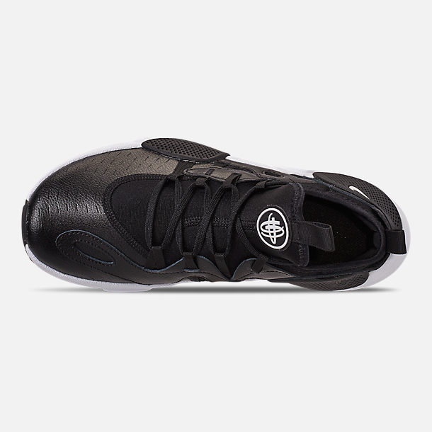 Top view of Boys' Big Kids' Nike Huarache E.D.G.E Casual Shoes in Black/White