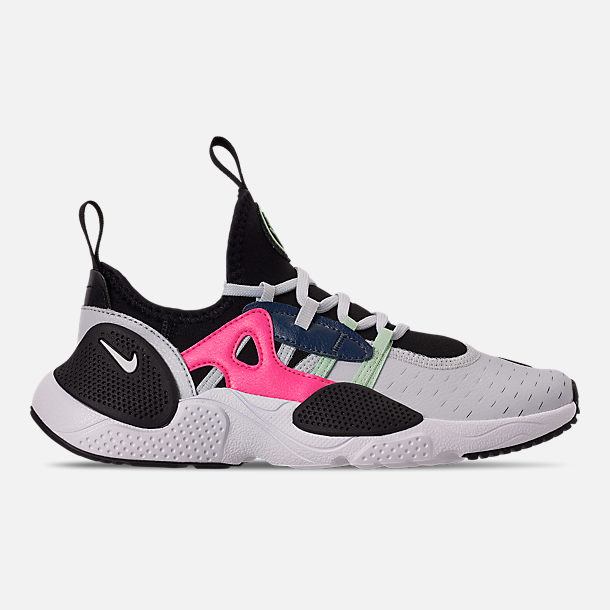 Right view of Boys' Big Kids' Nike Huarache E.D.G.E Casual Shoes in Pure Platinum/White/Black/Hyper Pink