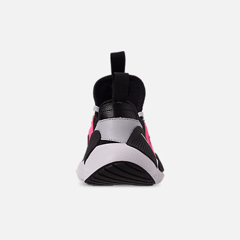 Back view of Boys' Big Kids' Nike Huarache E.D.G.E Casual Shoes in Pure Platinum/White/Black/Hyper Pink