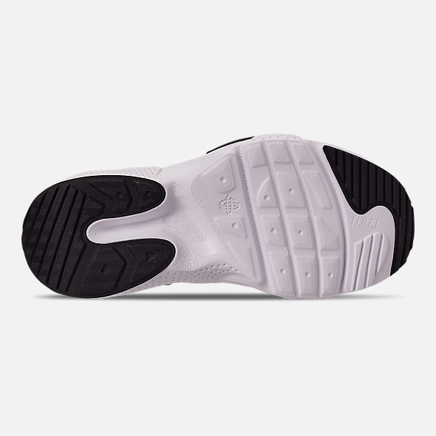 Bottom view of Boys' Big Kids' Nike Huarache E.D.G.E Casual Shoes in Pure Platinum/White/Black/Hyper Pink