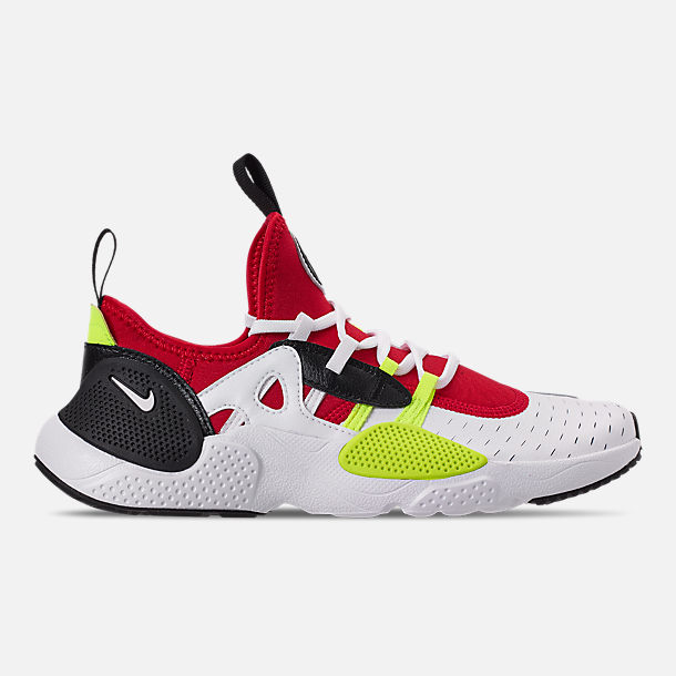 Right view of Boys' Big Kids' Nike Huarache E.D.G.E Casual Shoes in White/Black/Volt/University Red