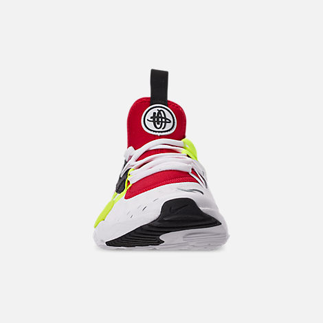 Front view of Boys' Big Kids' Nike Huarache E.D.G.E Casual Shoes in White/Black/Volt/University Red