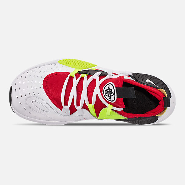 Top view of Boys' Big Kids' Nike Huarache E.D.G.E Casual Shoes in White/Black/Volt/University Red