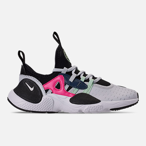 Right view of Girls' Little Kids' Nike Huarache E.D.G.E Casual Shoes in Pure Platinum/White/Black/Hyper Pink