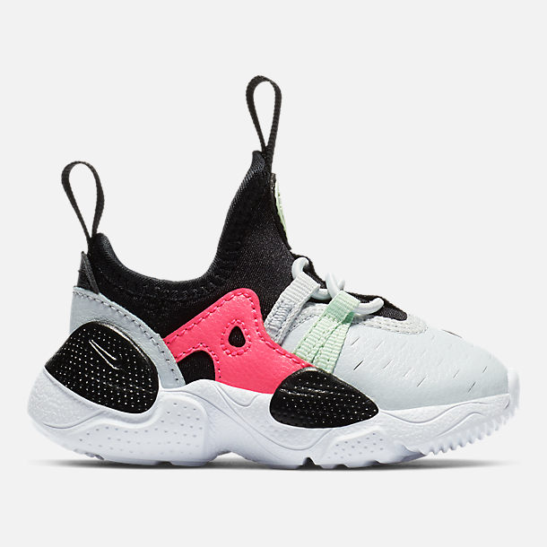 Right view of Girls' Toddler Nike Huarache E.D.G.E Casual Shoes in Pure Platinum/White/Black/Hyper Pink