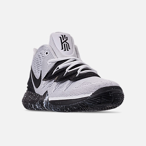 5580f031638 Three Quarter view of Boys  Big Kids  Nike Kyrie 5 Basketball Shoes in White