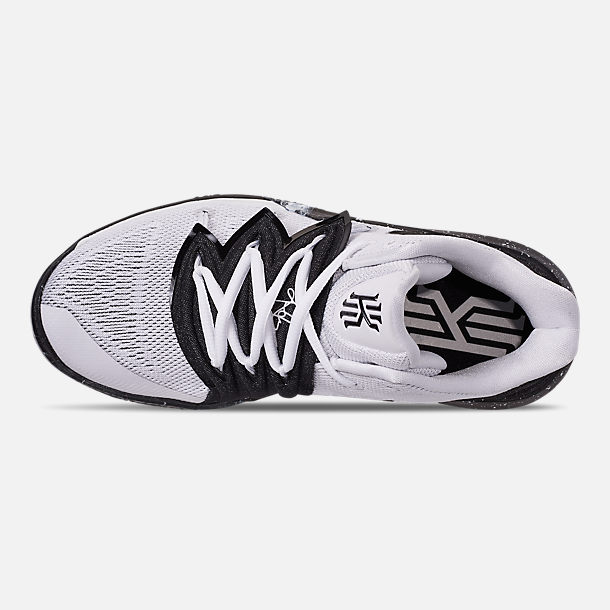 350a3516b556 Top view of Boys  Big Kids  Nike Kyrie 5 Basketball Shoes in White