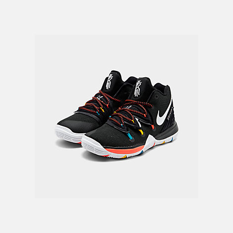 b72cb0101bf Three Quarter view of Boys  Little Kids  Nike Kyrie 5 Basketball Shoes in  Black
