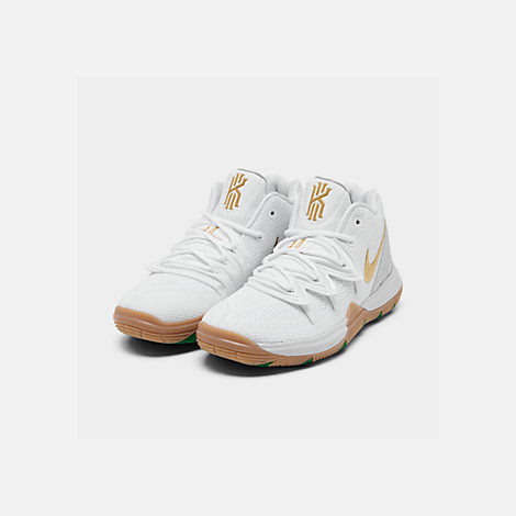32b386589b30 Three Quarter view of Boys  Little Kids  Nike Kyrie 5 Basketball Shoes in  White