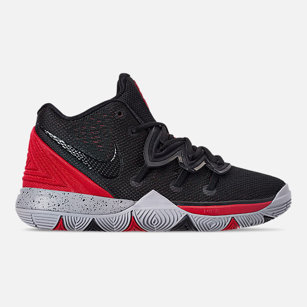 Right view of Boys' Little Kids' Nike Kyrie 5 Basketball Shoes in University Red/Black/Pure Platinum