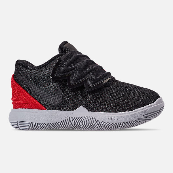 Right view of Boys  Toddler Nike Kyrie 5 Basketball Shoes in University  Red Black 55e55346c