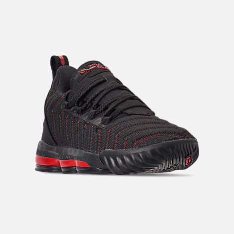 17d9ac61c2f2 Three Quarter view of Boys  Little Kids  Nike LeBron 16 Basketball Shoes in  Black
