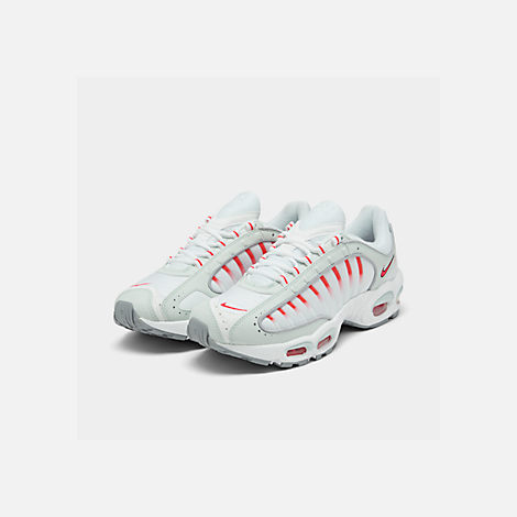 Three Quarter view of Men's Nike Air Max Tailwind IV Casual Shoes in Ghost Aqua/Red Orbit/Wolf Grey
