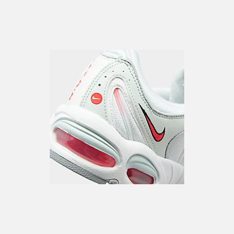 Front view of Men's Nike Air Max Tailwind IV Casual Shoes in Ghost Aqua/Red Orbit/Wolf Grey