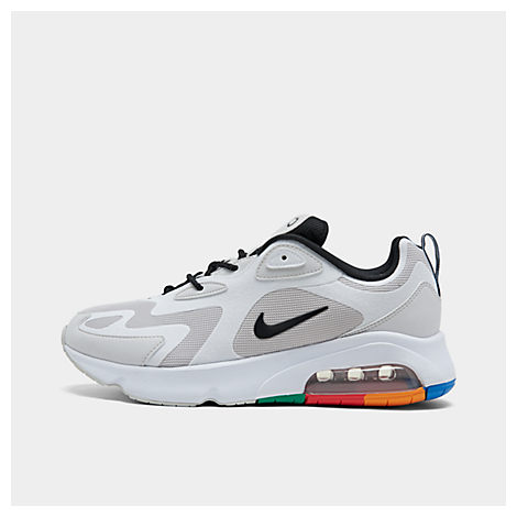 nike men's air max 200 casual shoes in white  modesens