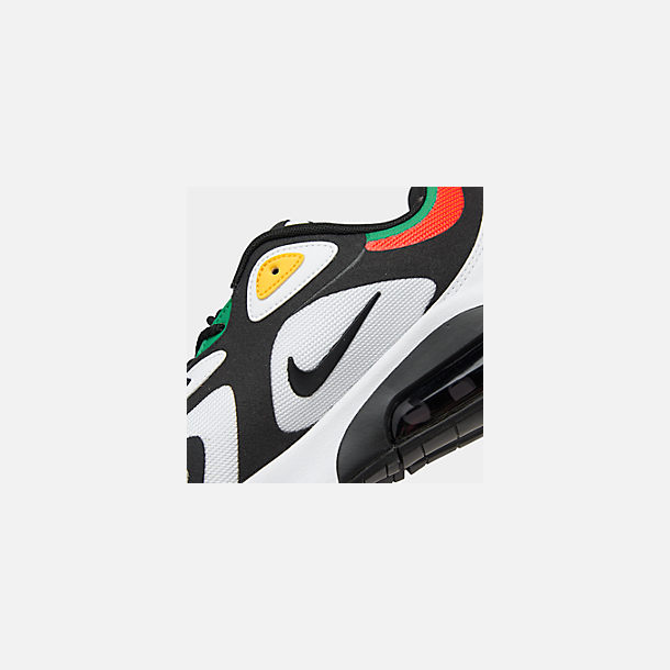 Front view of Men's Nike Air Max 200 Casual Shoes in White/Black/Bright Crimson