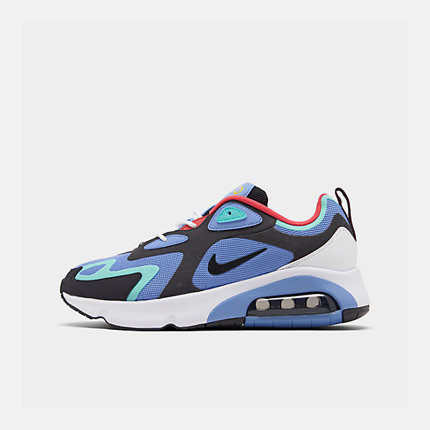 Right view of Men's Nike Air Max 200 Casual Shoes in Royal Pulse/Oil Grey/Light Aqua