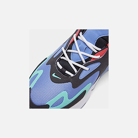 Front view of Men's Nike Air Max 200 Casual Shoes in Royal Pulse/Oil Grey/Light Aqua