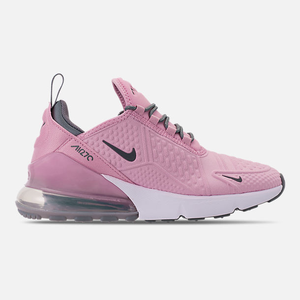 Right view of Girls' Big Kids' Nike Air Max 270 SE Casual Shoes in Light Arctic Pink/Cool Grey/White