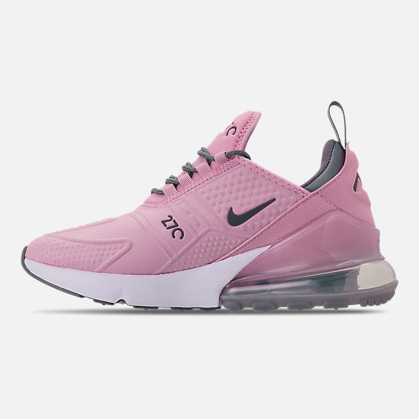 Left view of Girls' Big Kids' Nike Air Max 270 SE Casual Shoes in Light Arctic Pink/Cool Grey/White