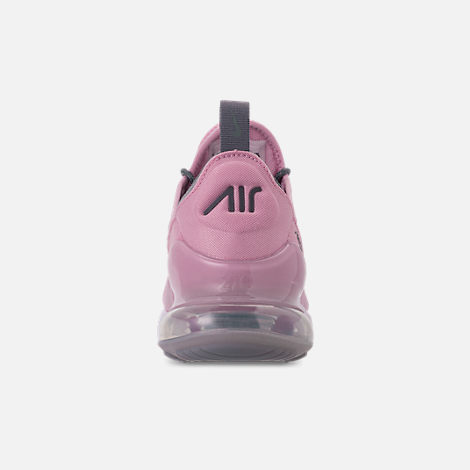 Back view of Girls' Big Kids' Nike Air Max 270 SE Casual Shoes in Light Arctic Pink/Cool Grey/White