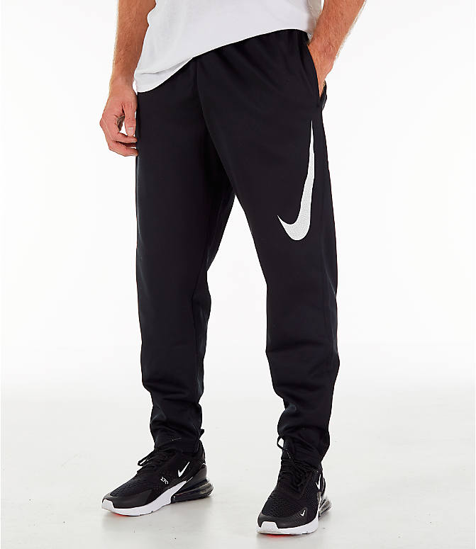Front view of Men's Nike Therma Basketball Pants in Black