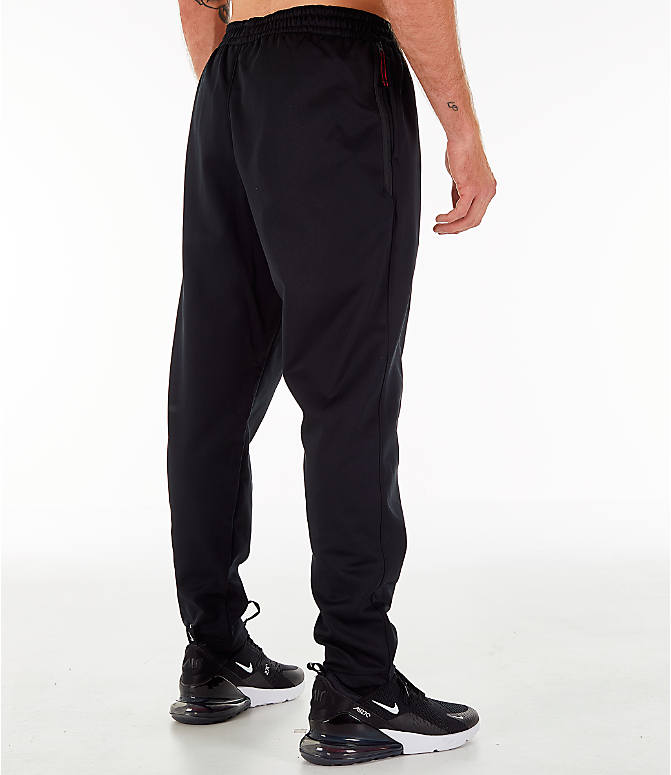 Back Right view of Men's Nike Therma Basketball Pants in Black