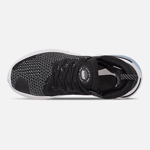 Top view of Men's Nike Joyride Run Flyknit Running Shoes in Black/Black/White